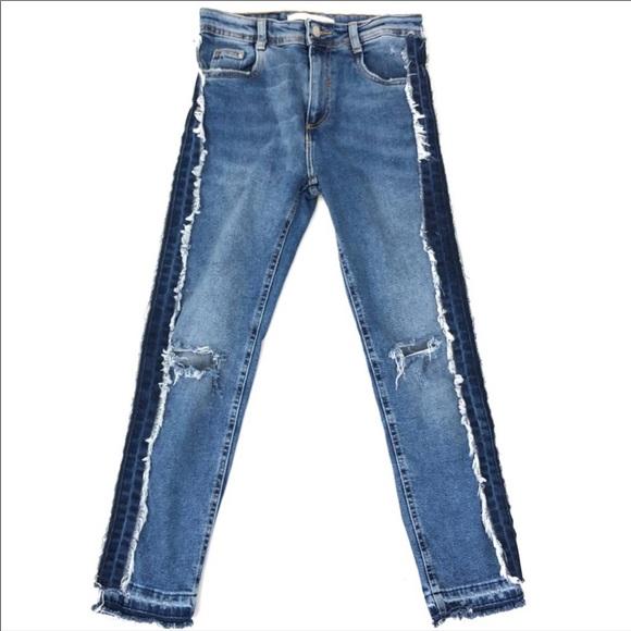 Zara raw edge jeans